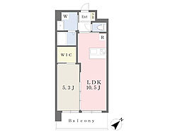 JR鹿児島本線 小倉駅 徒歩19分の賃貸マンション 2階1LDKの間取り