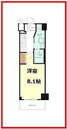 レグゼ八広 2階1Kの間取り