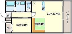 カルム播磨[2階]の間取り