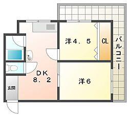 栗田マンション[3階]の間取り