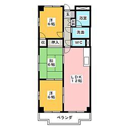 第2高杉マンション[1階]の間取り