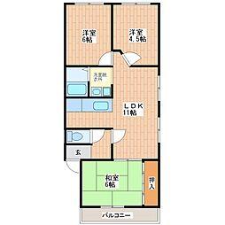 フジマンション(巽南)[2階]の間取り