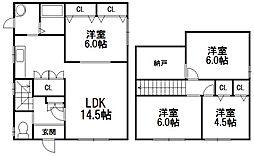 [一戸建] 北海道札幌市西区西野六条2丁目 の賃貸【北海道 / 札幌市西区】の間取り