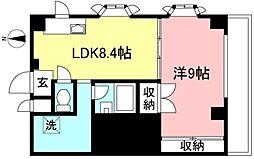 西武多摩川線 競艇場前駅 徒歩1分の賃貸マンション 4階1LDKの間取り