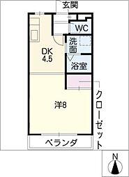 コム・シェ・ソワ[4階]の間取り