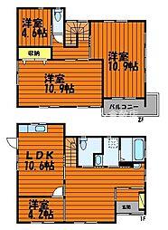 [一戸建] 岡山県倉敷市福島 の賃貸【岡山県 / 倉敷市】の間取り