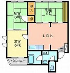 鹿田ビル[2階]の間取り