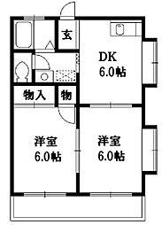 メゾン横山[2階]の間取り