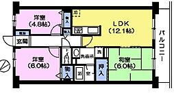 プレステージ平和台1番館[403号室]の間取り