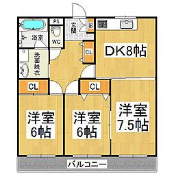 メゾンブリアンベルA棟[1階]の間取り