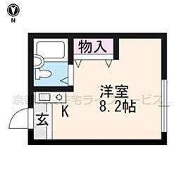 STEP聖護院[4階]の間取り