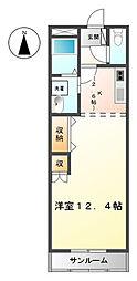 サンヴィレッジA[2階]の間取り