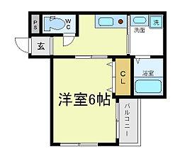 クレアシオン阿倍野[2階]の間取り