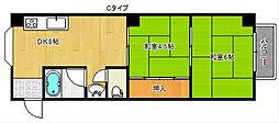 コーポ吉野家[2階]の間取り