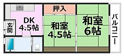 橋本アパートメント[3階]の間取り
