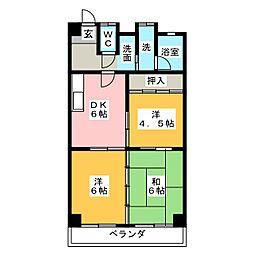 パークサイド藤[3階]の間取り