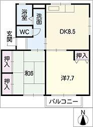 ソファレ花園C棟[1階]の間取り