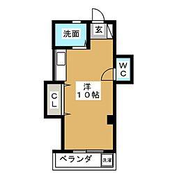新栄ハイツ[4階]の間取り