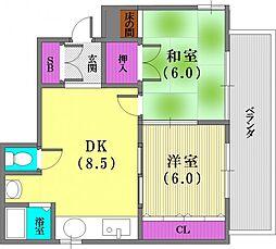 アパートメントK[3階]の間取り