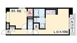 カサ アレグリア 5階1LDKの間取り