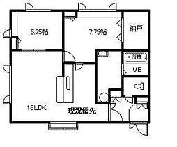 T&H B棟 1階2LDKの間取り