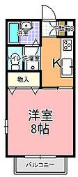 コーポちひろ[203号室]の間取り