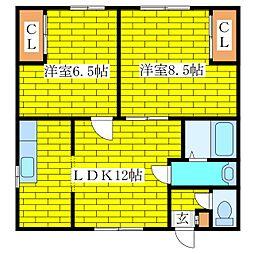 志田アパート[2階]の間取り