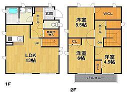 [タウンハウス] 兵庫県伊丹市森本6丁目 の賃貸【/】の間取り