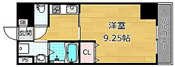 Puraria牧野阪[2階]の間取り