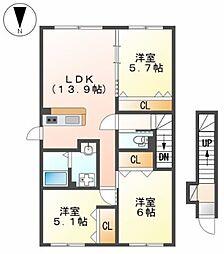 ペアレンツホーム 2階3LDKの間取り