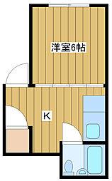 クボタビル[3階]の間取り
