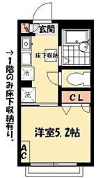 東京都江戸川区東瑞江3丁目の賃貸アパートの間取り