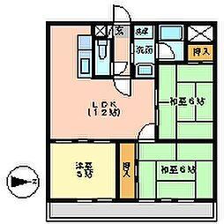 コンフォ・トゥール[4F号室]の間取り