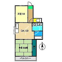 メゾン葛島[2階]の間取り