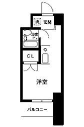 コスモヒロ南台[5階]の間取り