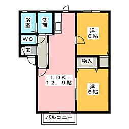 ハイマートK[1階]の間取り