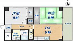 ファミーユ 6階2LDKの間取り