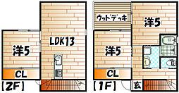 [一戸建] 福岡県北九州市門司区大字畑 の賃貸【/】の間取り