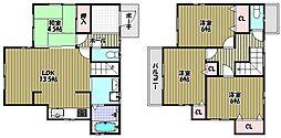 [一戸建] 大阪府和泉市内田町2丁目 の賃貸【/】の間取り