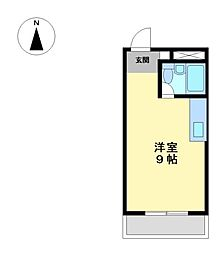 五大ビル[3階]の間取り
