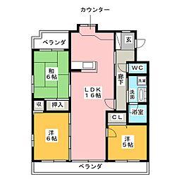 ステージ平子[2階]の間取り