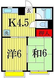 マンション・ハイアット[3階]の間取り