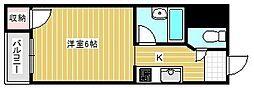 ビジタル浪速パート8[4階]の間取り
