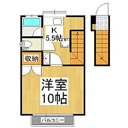 カーサマサキF棟[2階]の間取り
