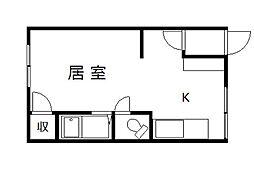 オリス芦別L[203号室]の間取り