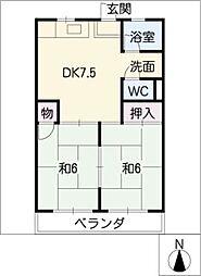 コーポ川添[1階]の間取り