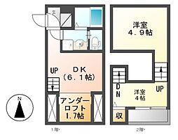 Maison Dolce[2階]の間取り