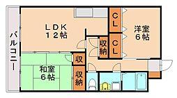 フォルトアーク1[3階]の間取り