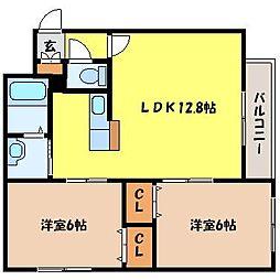 北海道札幌市中央区北六条西11丁目の賃貸マンションの間取り
