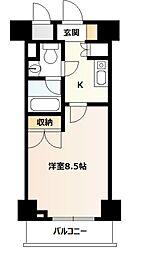 ドミールコート湘南台[4階]の間取り